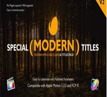 Special Modern Titles Pack for Final Cut Pro