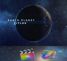 VH – Earth Planet Titles for Final Cut Pro X